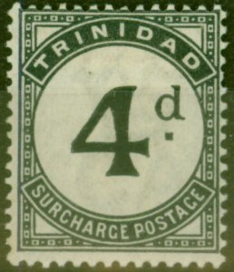 Trinidad 1885 4d Slate-Black SGD5 Fine Mtd Mint