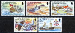 Alderney Sc# 60-64 MNH 1991 Definitives