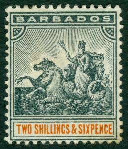 EDW1949SELL : BARBADOS 1892 Scott #79 Very Fine, Mint Original Gum. Catalog $55.