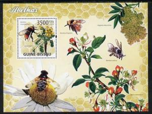 Guinea - Bissau 2009 Bees & Flowers perf s/sheet unmo...