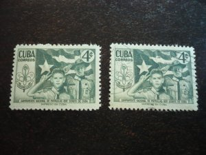 Stamps - Cuba - Scott#535 - Mint Hinged & Used Set of 2 Stamps