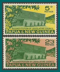 Papua New Guinea 1961 Legislative Council, MNH  #148-149,SG26-SG27