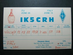 5494 Amateur Radio QSL Card Prato Italy