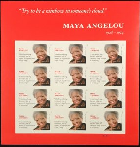 4979    Maya Angelou Poet   MNH Forever sheet of 12    FV $6.60   Issued in 2015