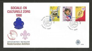 1990 Scouts Netherlands Antilles 60th anniversary FDC