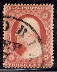 CERTIFIED US Stamp #25 USED SCV $180. Deep, rich color.