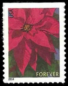 US #4816b Bk Sgl {46c}Poinsettia, MNH, (PCB-2)