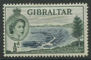 Gibraltar #132 QEII  MH  Scott CV. $0.25.