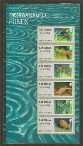 2013 Ponds - Freshwater Life I (1) post & Go P&G 11 UNMOUNTED MINT