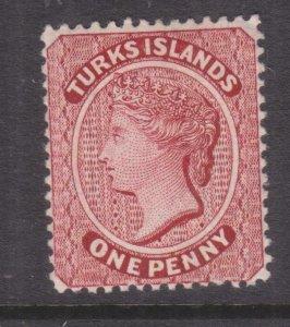 TURKS ISLANDS, 1889 1d. Lake, lhm.