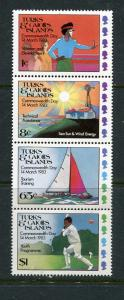 Turks % Caicos Is #555-8 Mint