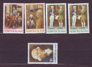 J23163 JLstamps 1986 norfolk island set mnh #392-6 gov phillip