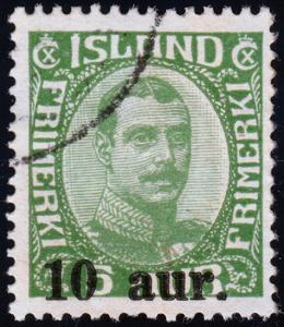 Iceland Scott 139 (1922) Used H F-VF B