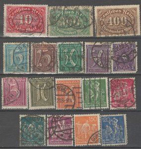 COLLECTION LOT # 4298 GERMANY 17 STAMPS WMK 125 1921 CV+$43