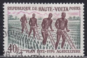 Burkina Faso 279 Plowers in the Field 1972