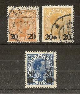 Denmark 1926 Surcharges SG229(2) & SG230 Fine Used Cat£50