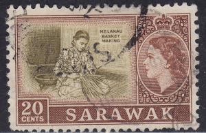 Sarawak 205 USED 1957 Melanau Basket Making