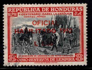 Honduras  Scott C218 Used surcharged official airmail 1953