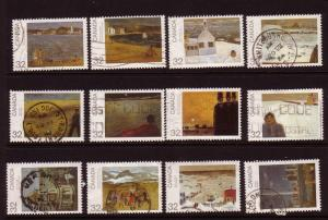 CANADA DAY 1984 SET STAMPS ON PAINTINGS USED LOT#7