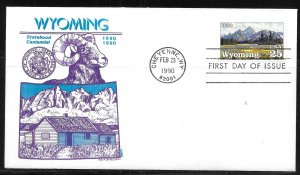 United States 2444 Wyoming Statehood GAMM First Day Cover FDC (z1)