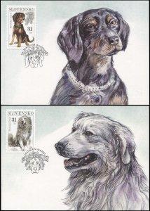 Slovakia. 2007. Dogs (Mint) Set of 2 Maxi Cards