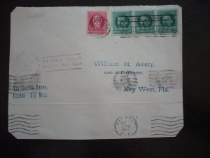 Cuba - Postal History - Cover - Scott#280-281 Imperf - First Flight