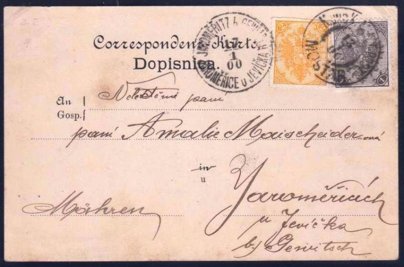 AUSTRIA BOSNIA  1900. mixed currency florin and crown MOSTAR ..see description