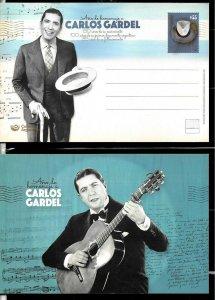 PS- ARGENTINA 2019 P STATIONARY MUSIC TANGO SINGER CARLOS GARDEL ANIV UNUSED