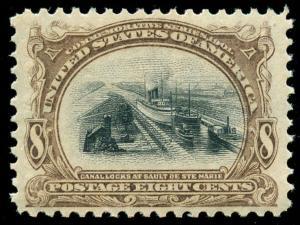 momen: US Stamps #298 Mint OG NH XF PF Cert