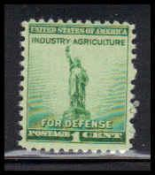 899 1c Statue Of Liberty Just Clears MNH W4497