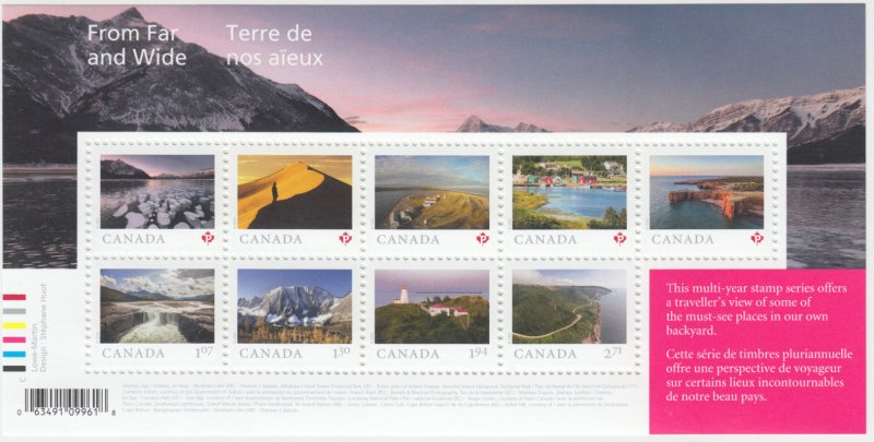 Canada - *NEW* From Far And Wide Souvenir Sheet - 2020 - MNH