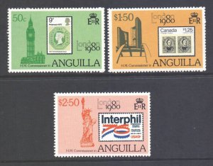 Anguilla  Scott 391/393 - SG407/409, 1980 London 80 Set MH*