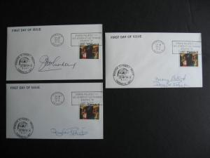 CANADA SC 681 Olympics 3 FDC, event covers from Stampex 78, each is signed