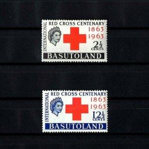 BASUTOLAND - 1963 - QE II - RED CROSS CENTENARY - MINT - MNH - SET!