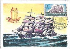 26297 - FRANCE  - POSTAL HISTORY - MAXIMUM CARD 1971 - NAVIGATION \ BOATS