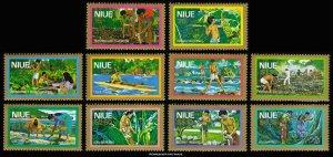 Niue Scott C1-C10 Mint never hinged.