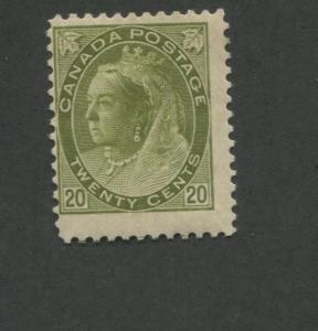 1900 Canada 20 Cent Olive Green Stamp Scott #84 Queen Victoria CV $650