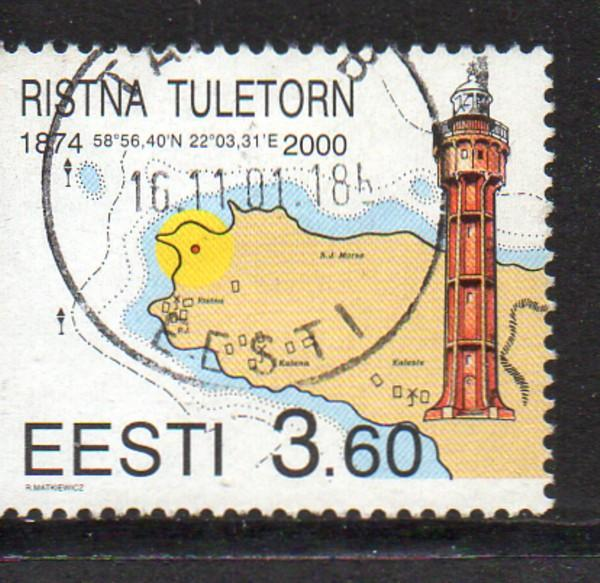 Estonia Sc 388 2000 Ristna Lighthouse stamp used