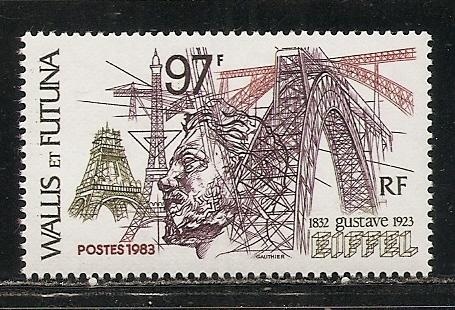 Wallis and Futuna Islands 300 1983 Eiffel single MNH