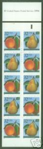 USA Scott 2494a Peach  Pear Booklet BC59 CV $26 P#11111