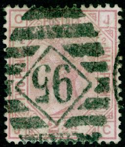 SG139, 2½d rosy mauve PLATE 2, USED. Cat £90. WMK ANCHOR. JC