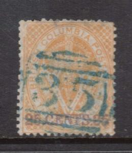 British Columbia #11 VF Used With Ideal 35 Numeral Cancel In Blue