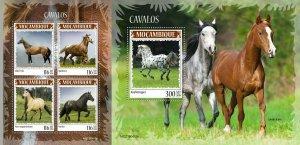 Z08 MOZ190415ab MOZAMBIQUE 2019 Horses MNH ** Postfrisch