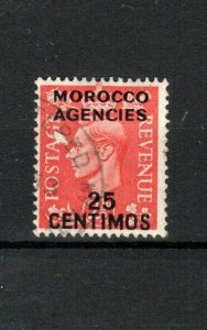 Morocco Agencies-Spanish Currency 1951-52 25c on 2 1/2d GB opt and surch  FU CDS