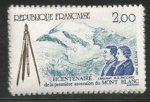 FRANCE 2015  MNH,  1ST ASCENT OF MT. BLANC, 1786