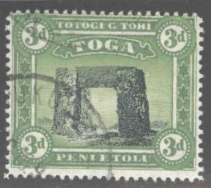 TONGA  Scott 43 Used 1897 perf 14 turtle watermark  CV $9.75