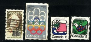 Can #622-23,625-26   -2   u   VF 1973 PD