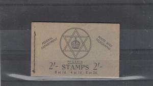 NIGERIA 1957 2/- STICHED BOOKLET INTACT