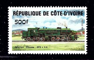 Ivory Coast 728 MNH 1984 Locomotive         (P110)