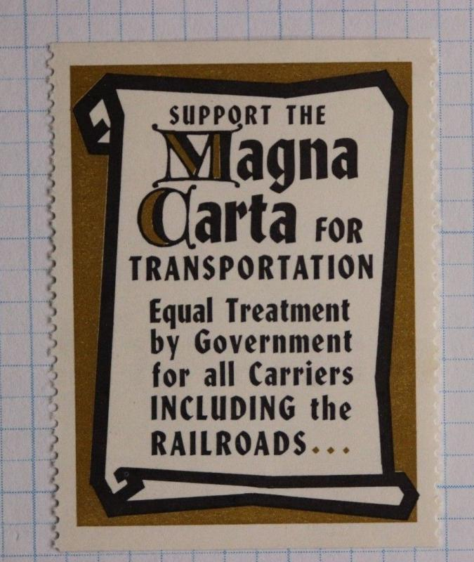Magna Carta Railroad co equal Trans industry trade association Poster Stamp Mint